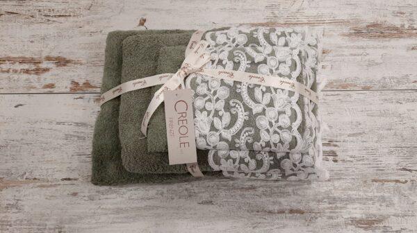 Tris asciugamani Elsa verde