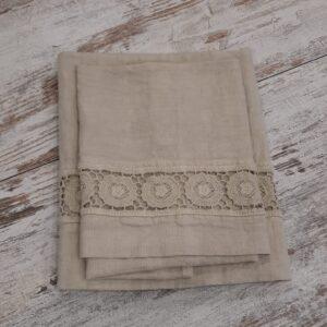 Coppia asciugamani lino Margherite