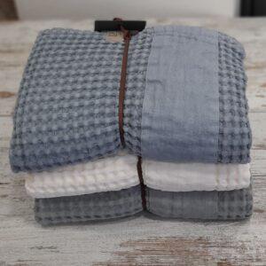 Coppie asciugamani Jaspy nido d'ape