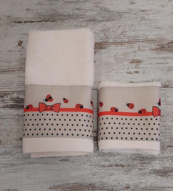 Asciugamani Coccinelle var. Avorio